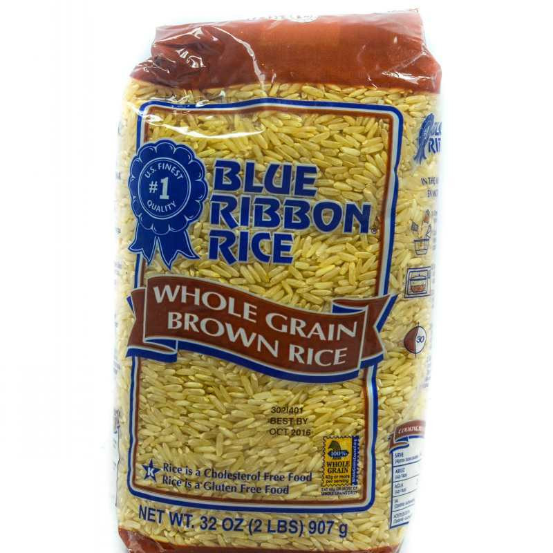 Whole Grain Brown Rice  BLUE RIBBON WHOLE GRAIN BROWN RICE 907G 2LBS Grocery