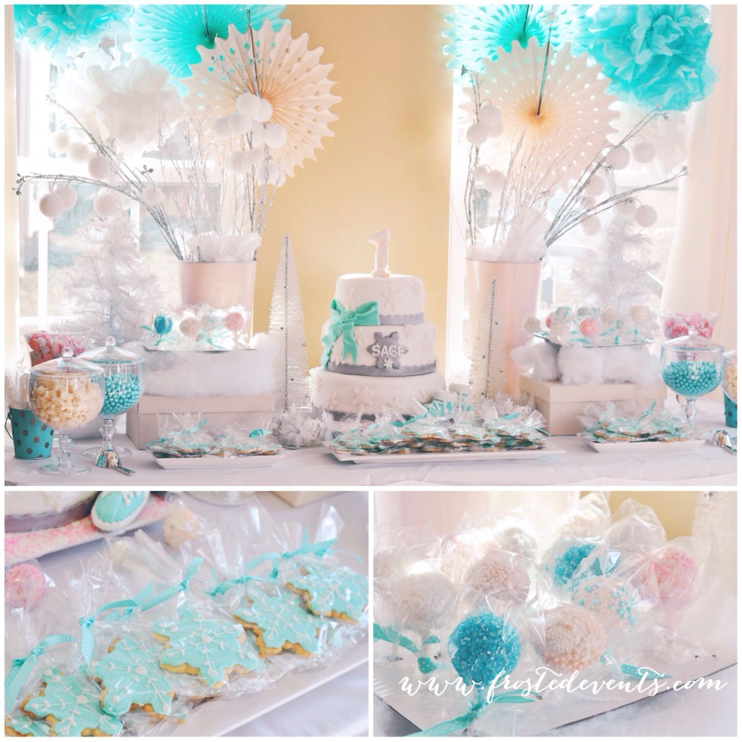 Winter Birthday Party Ideas For 1 Year Old  Winter Wonderland First Birthday Party by Frosted Events