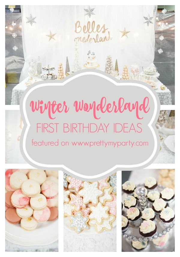 Winter Birthday Party Ideas For 1 Year Old  Winter e derland Birthday Celebration Pretty My Party