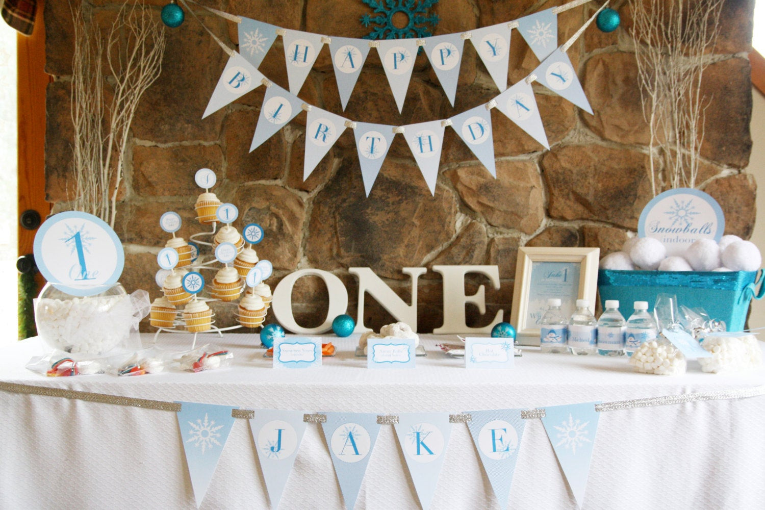 Winter Birthday Party Ideas For 1 Year Old  Winter ONEderland Birthday Party Theme Baby Boy s First