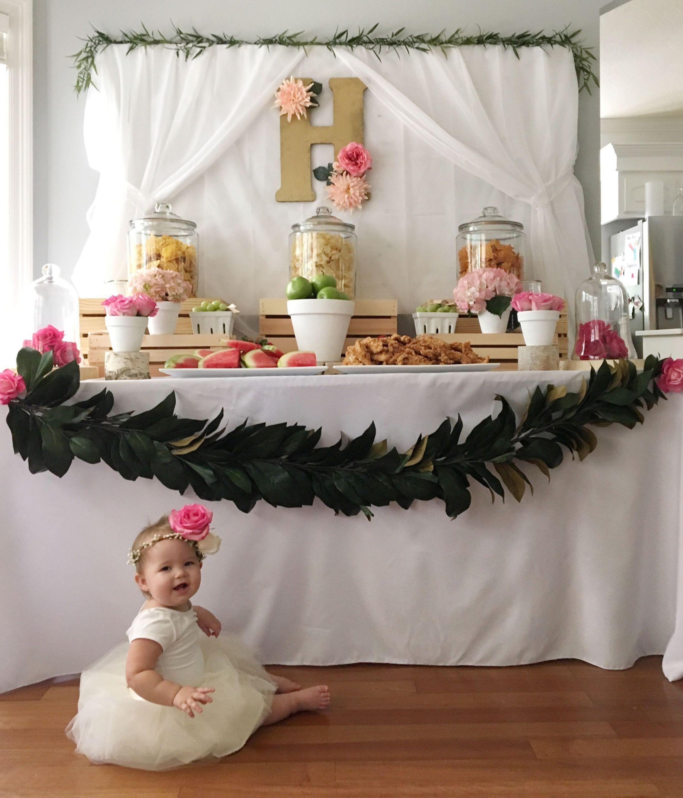 Winter Birthday Party Ideas For 1 Year Old  Harper s Floral First Birthday