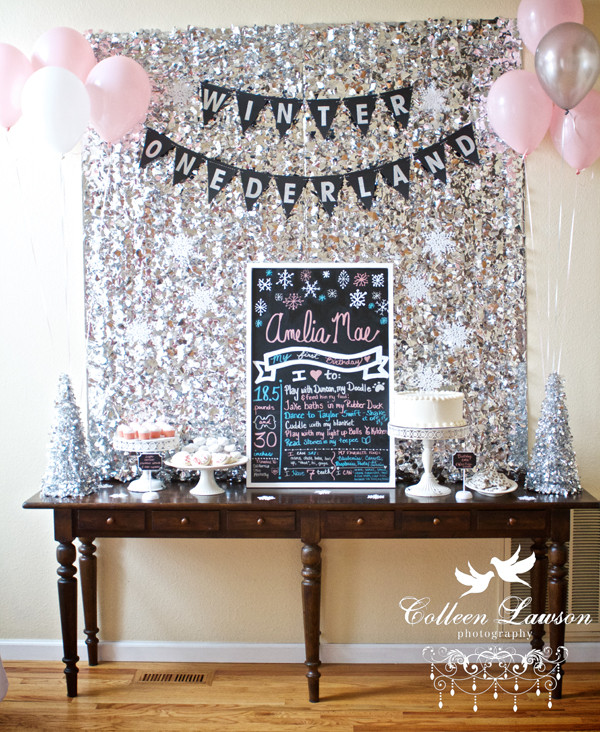 Winter Birthday Party Ideas For 1 Year Old  reader style A Winter ederland First Birthday Party
