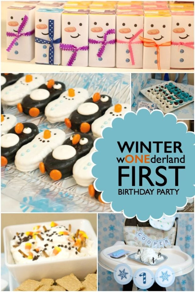 Winter Birthday Party Ideas For 1 Year Old  Boy s Winter ONEderland 1st Birthday Party Spaceships