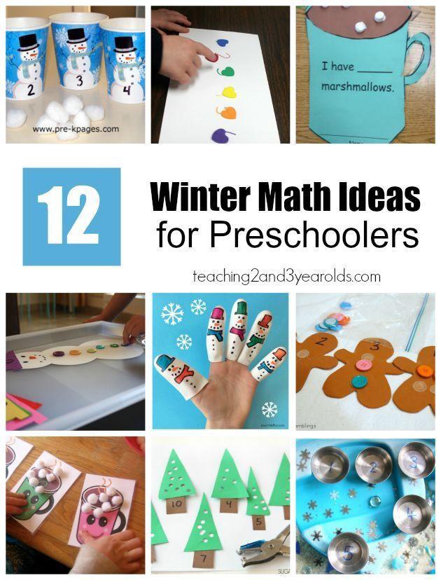 Winter Themed Activities For Preschoolers  720 best images about Preschool Math Activities on