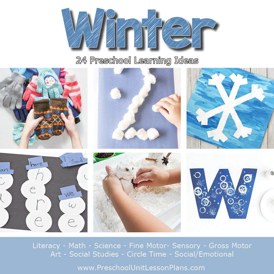 Winter Themed Activities For Preschoolers  A Year of Preschool Lesson Plans Bundle Where