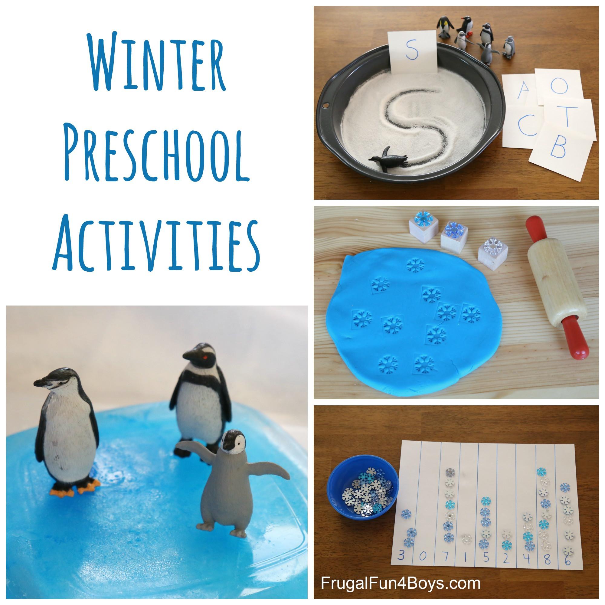 Winter Themed Activities For Preschoolers  Winter Learning Activities for Preschool Frugal Fun For