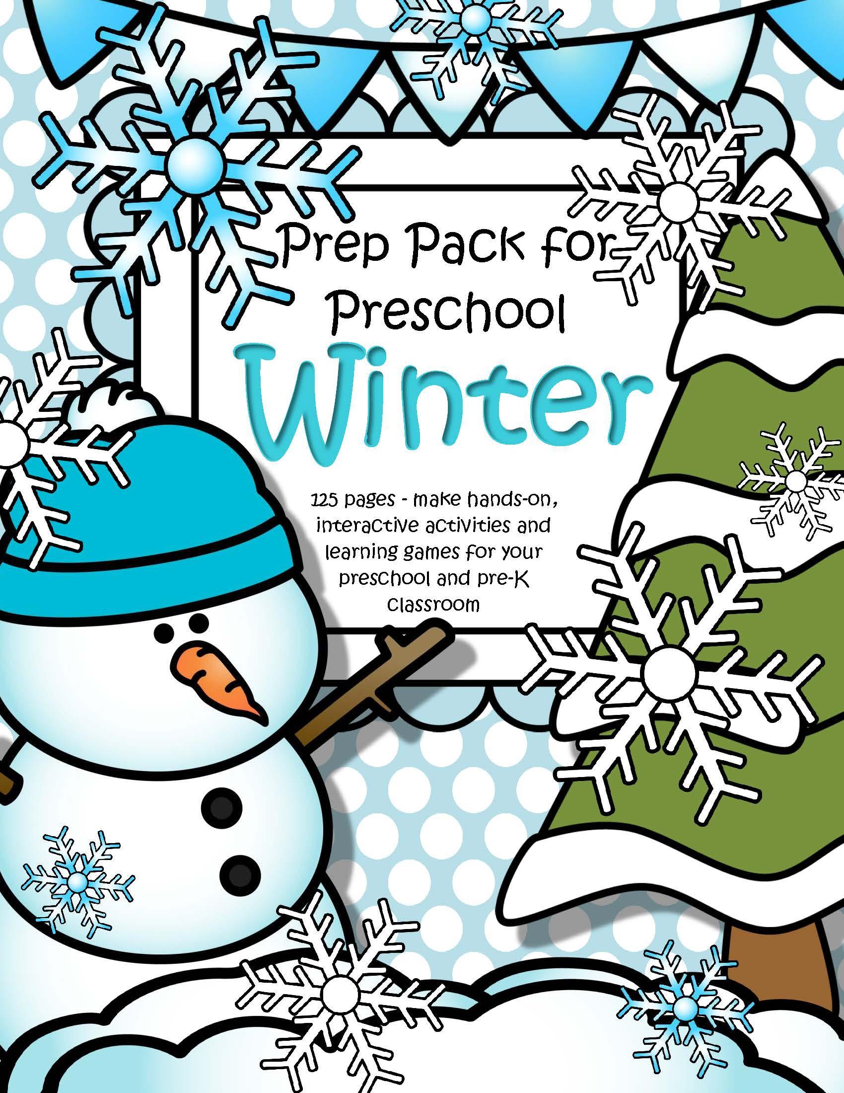 Winter Themed Activities For Preschoolers  WINTER Theme Pack for Preschool