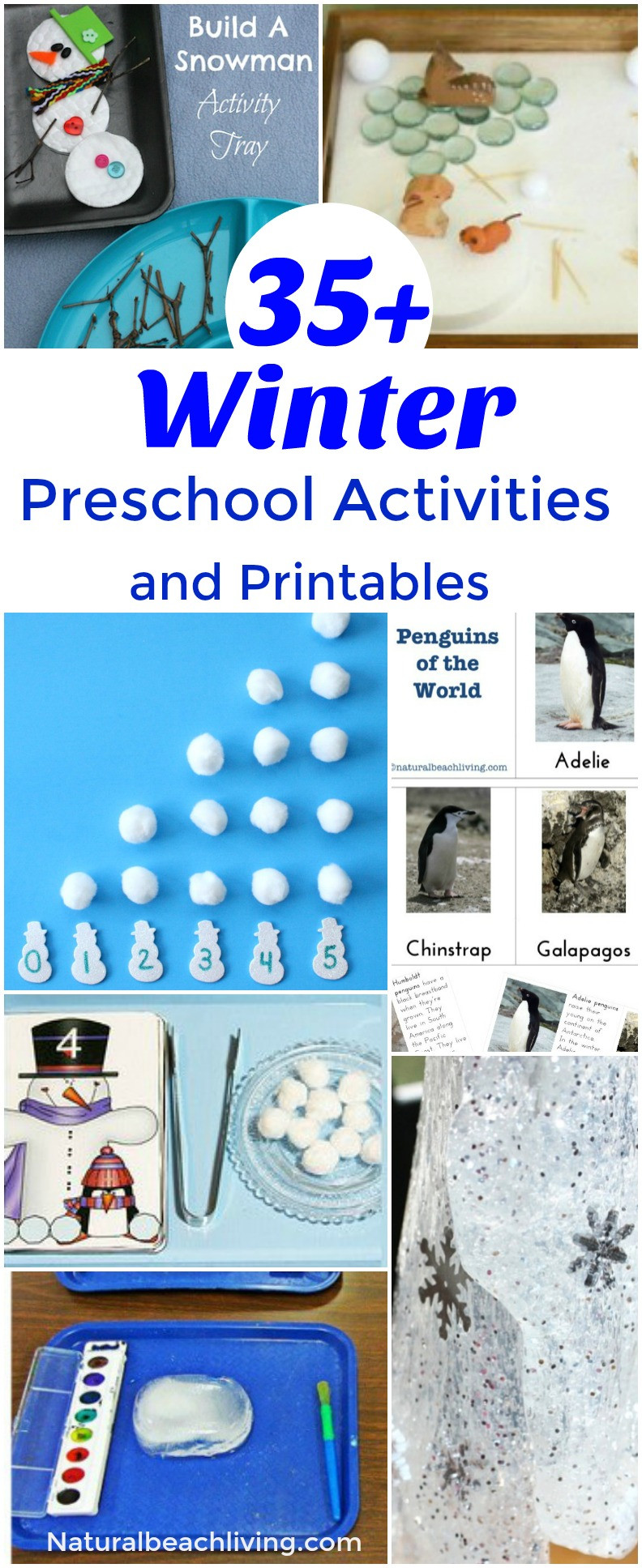 Winter Themed Activities For Preschoolers  35 Winter Preschool Activities and Free Printables