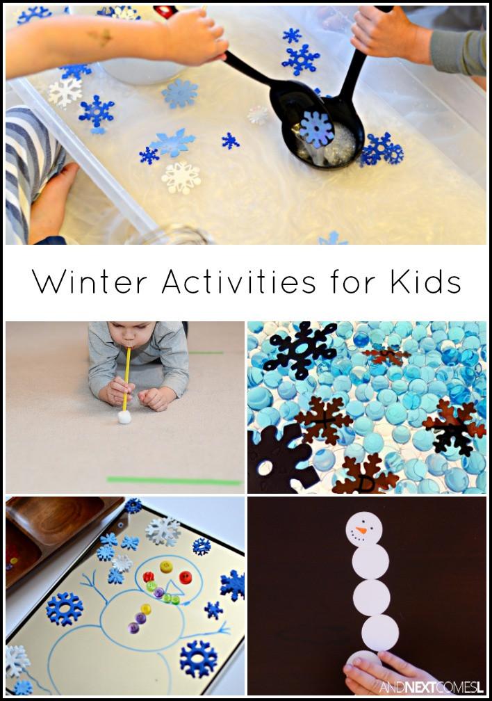 Winter Themed Activities For Preschoolers  Winter Activities for Kids