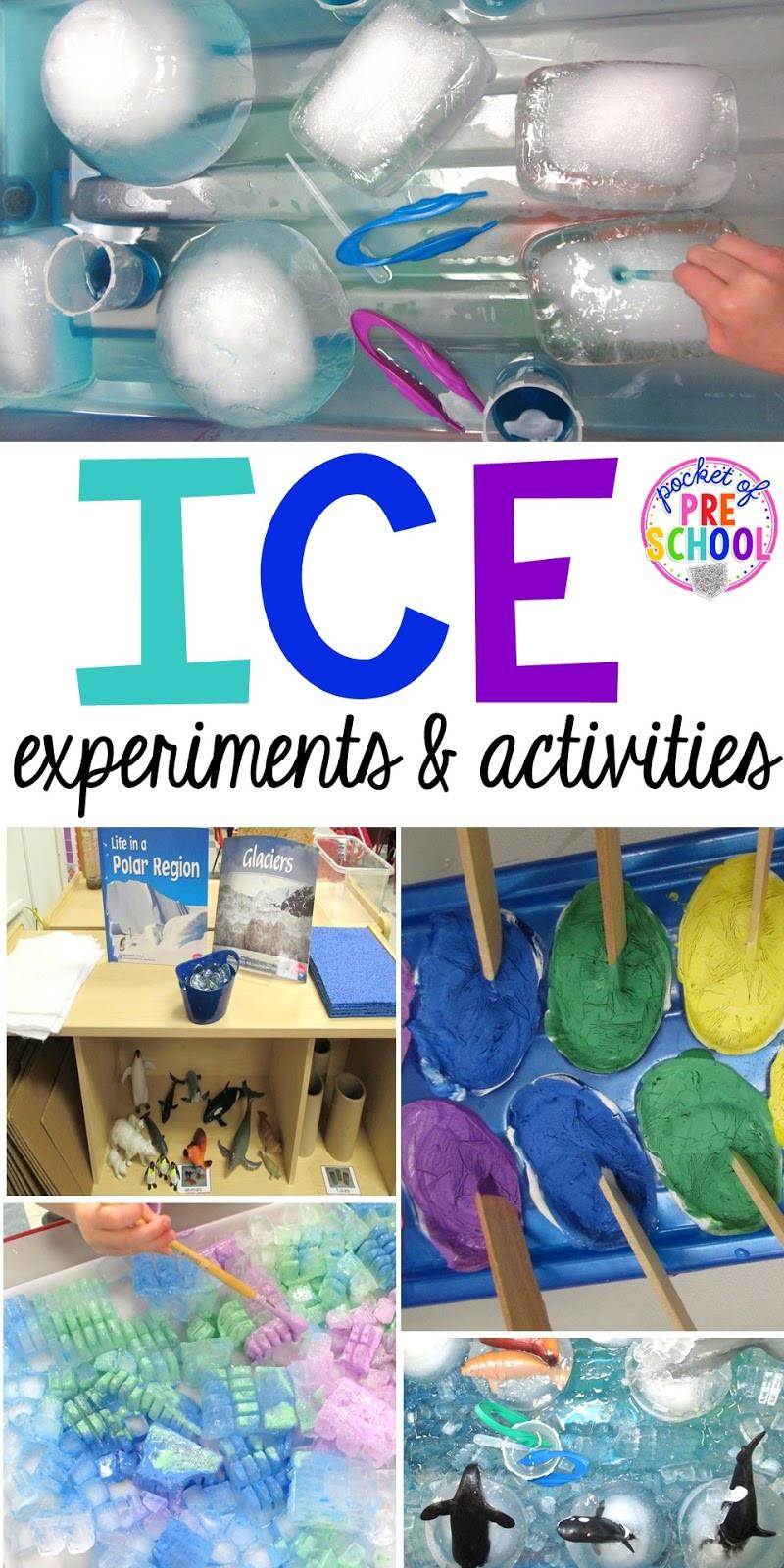 Winter Themed Activities For Preschoolers  Arctic Ice Activities and Experiments Pocket of Preschool