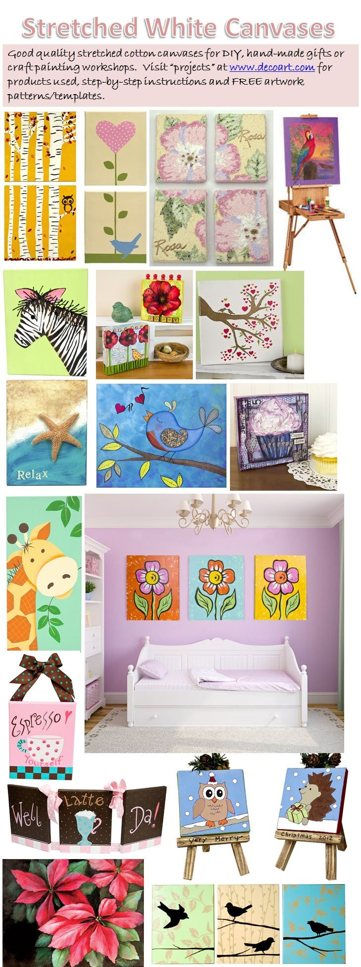 Workshop Ideas For Adults  Easy canvas painting projects DIY art and crafts Gift