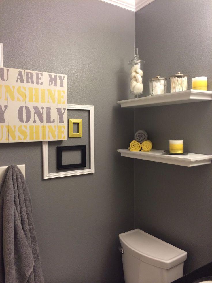 Yellow And Gray Bathroom Decor  Best 25 Yellow bathrooms ideas on Pinterest