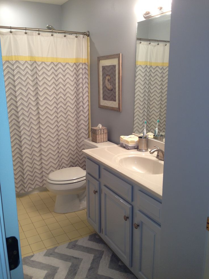 Yellow And Gray Bathroom Decor  17 Best images about My Yellow and grey bathroom