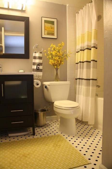 Yellow And Gray Bathroom Decor  22 Bathrooms with Yellow Accents MessageNote