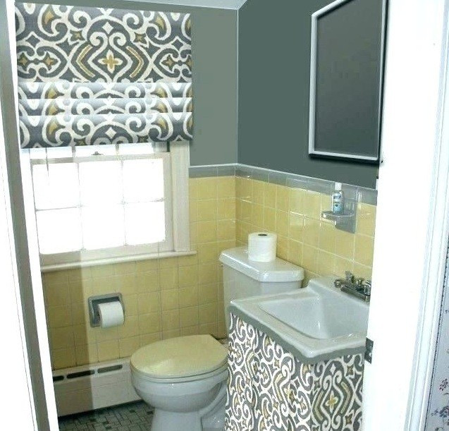 Yellow And Gray Bathroom Decor  Yellow and Gray Bathroom Decor for Bright and Cheery