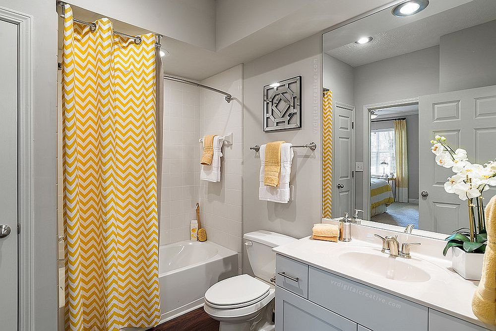 Yellow And Gray Bathroom Decor  Trendy and Refreshing Gray and Yellow Bathrooms That Delight