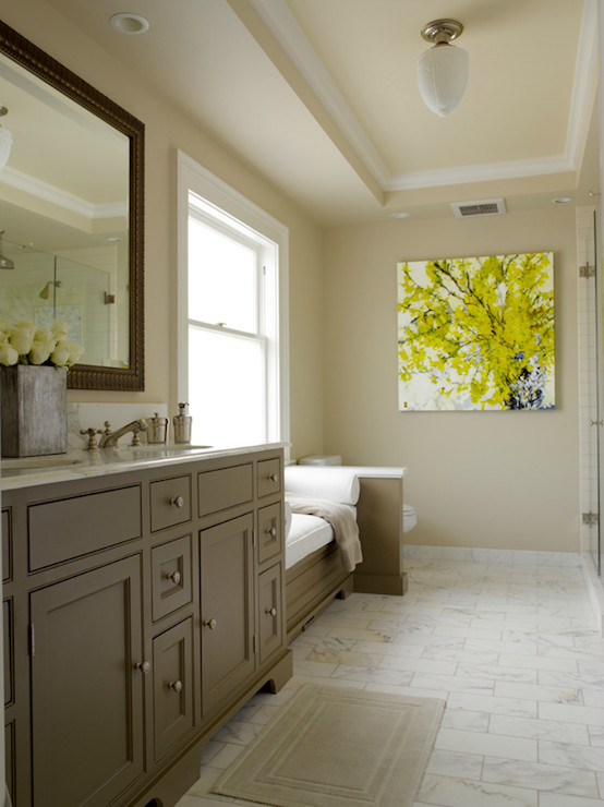Yellow And Gray Bathroom Decor  Gray and Yellow Bathroom Contemporary bathroom
