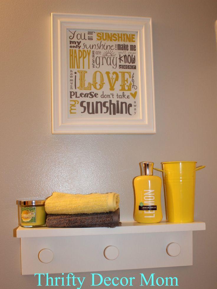 Yellow And Gray Bathroom Decor  11 best yellow & gray bathroom ideas images on Pinterest