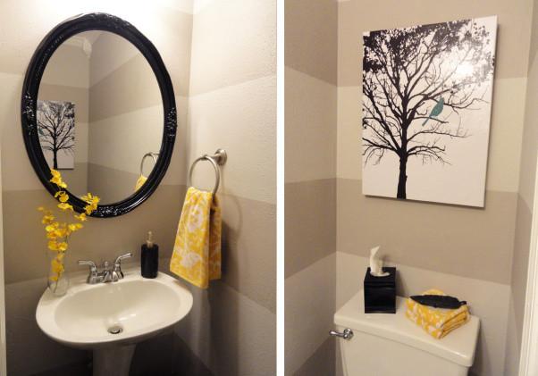 Yellow And Gray Bathroom Decor  Pondering the Powder Room