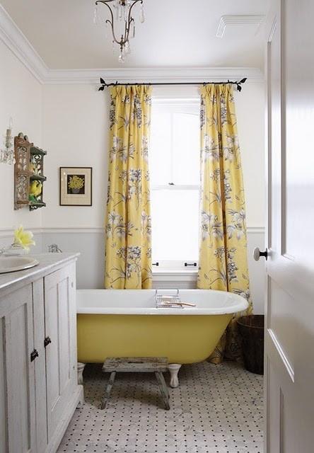 Yellow And Gray Bathroom Decor  37 Sunny Yellow Bathroom Design Ideas DigsDigs
