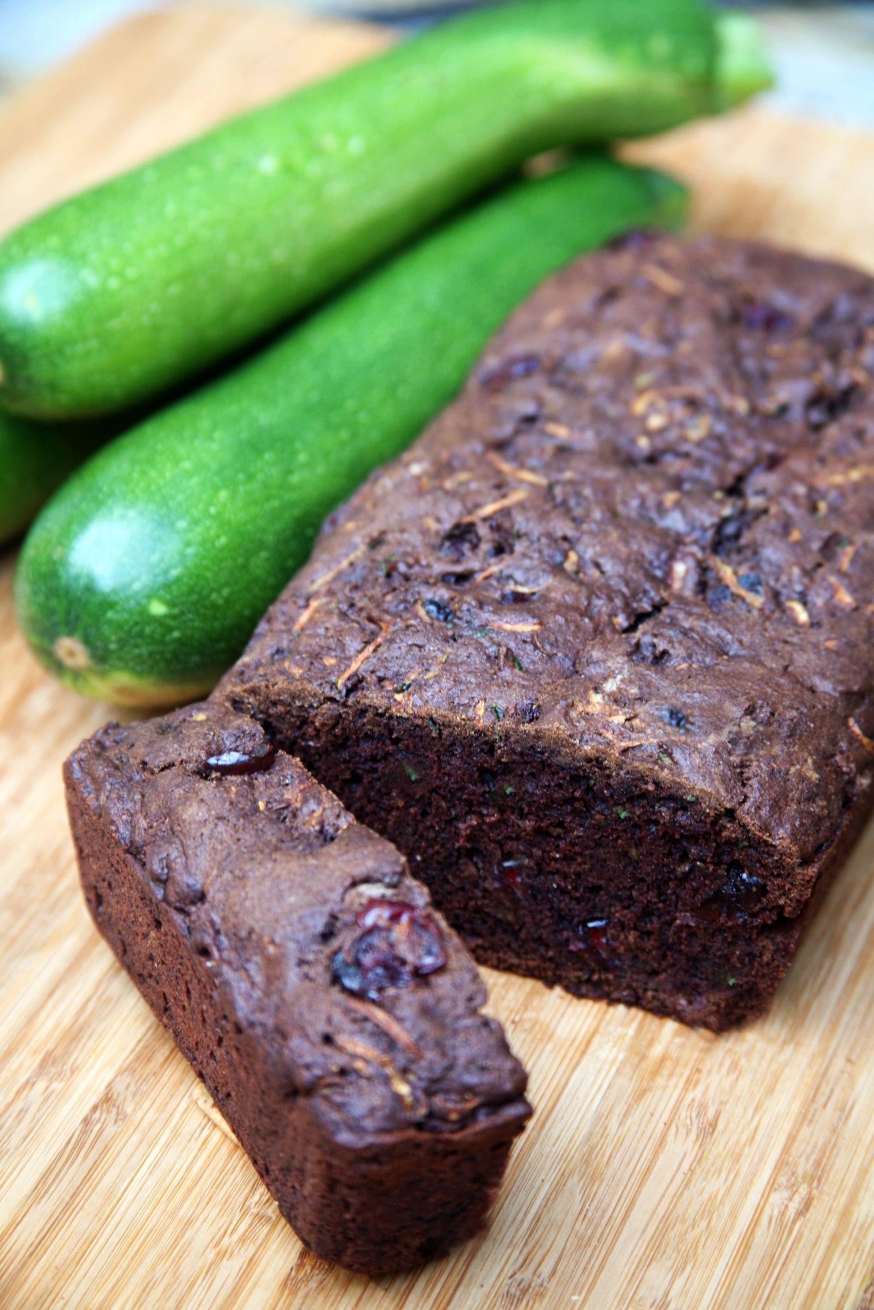 Zucchini Bread Vegan  Vegan Chocolate Cranberry Zucchini Bread Recipe